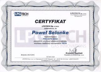Certyfikat LPGTECH Auto Seba
